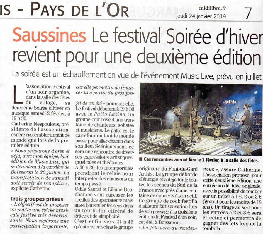 Article MIDI LIBRE Lunel